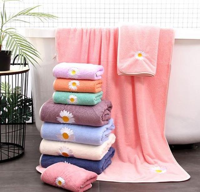 小雛菊舒柔毛巾浴巾(2件/組)