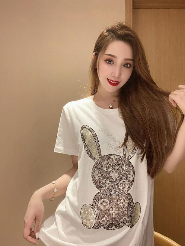 超閃鑽石兔子短袖