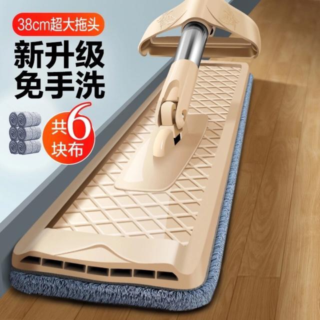 免手洗平板拖把家用地板神器拖把神器懶人拖布乾濕兩用地拖托大號送六快布