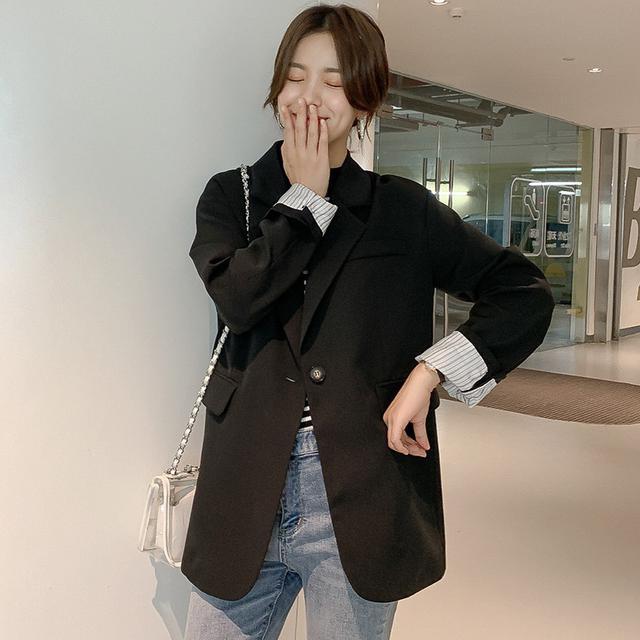 11 S-L 2019小西裝寬鬆外套女(四色