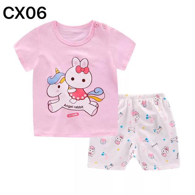 兒童短袖套裝男女寶寶純棉休閒夏裝0-5歲嬰兒夏天衣服批發