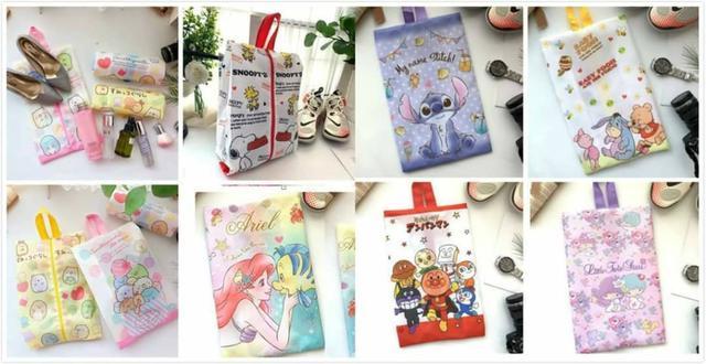 愛卡通手提鞋子化妝品收納袋(8款)