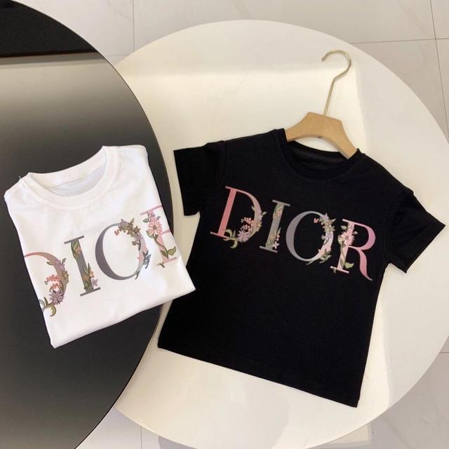 男女童夏裝兒童字母印花D家中小男女童短袖T恤潮範男女童童裝