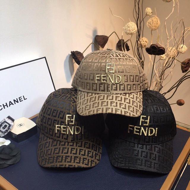 歐洲站FF奢侈大牌潮搭棒球帽子男時尚潮流鴨舌帽休閒帽女