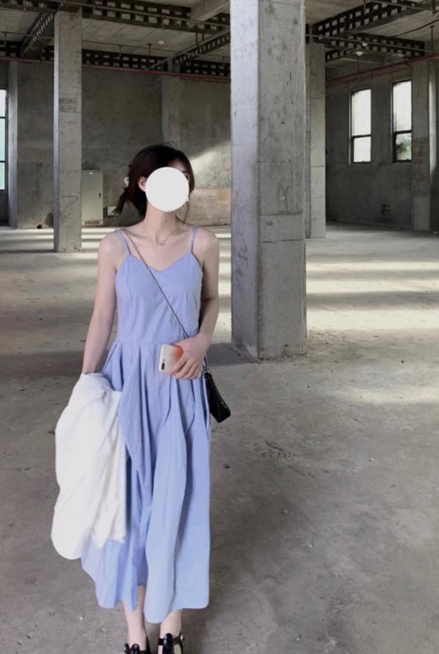 韓版吊帶連衣裙+防曬外套