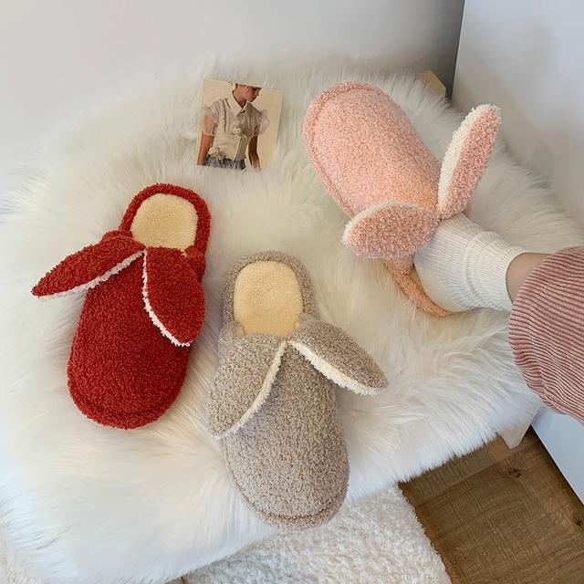 預購-可愛兔子防滑毛毛绒拖鞋(卡)