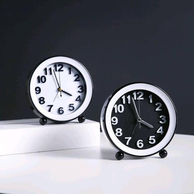 北歐風可壁掛立式鬧鐘
