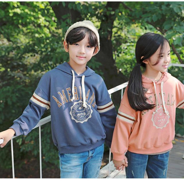 11 連帽拼接袖衛衣 親子裝(2色)1444