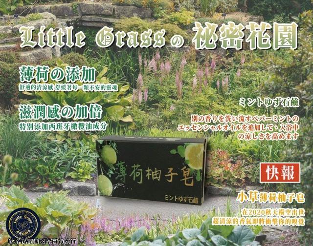 Little Grass 日系薄荷柚子皂 270顆