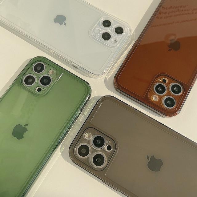 預購 簡約素色手機殼 透綠 透明 透黑 透紅