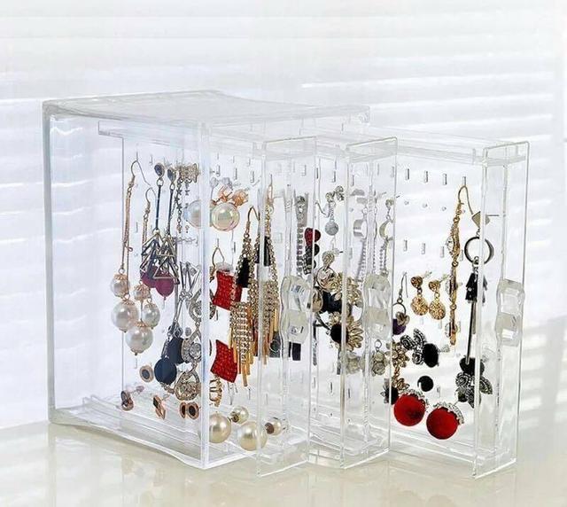 【N.T.F-現貨款】耳環飾品壓克力收納盒