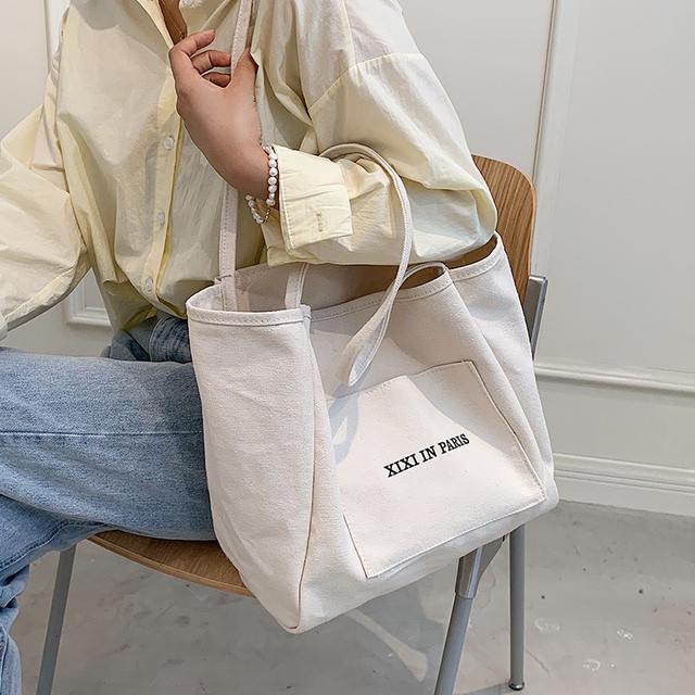 简约大容量包包時尚单肩包學生帆布托特包