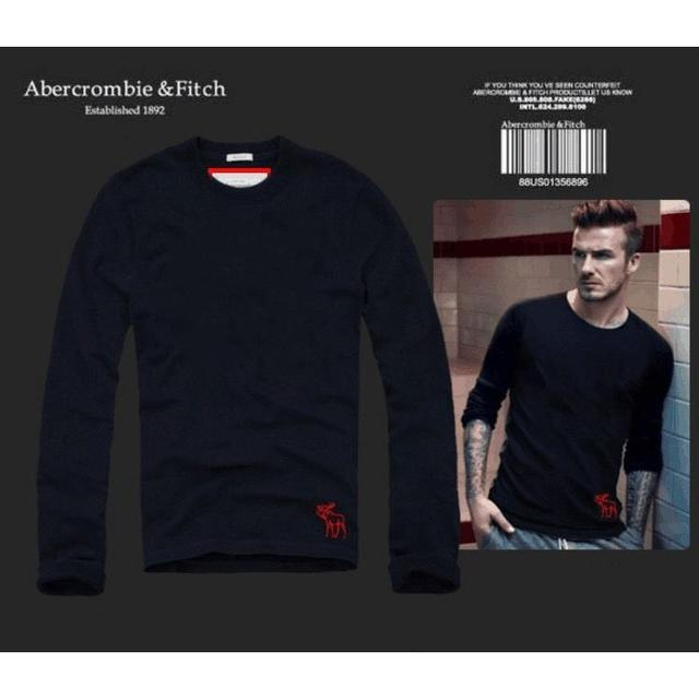 A&F#CD33 貝克漢同款麋鹿長袖T恤
