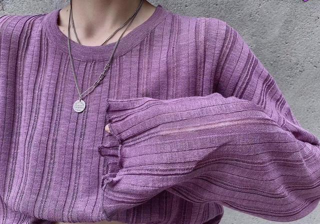 1237#欧货新品净版时尚百搭冰丝针织衫 均码