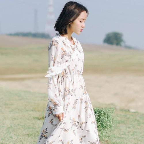 11 流行款 M-2XL 韓版 文藝碎花連衣裙