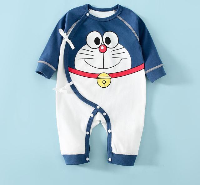 初生嬰兒衣服春秋季纯棉和尚服新生兒連體衣
