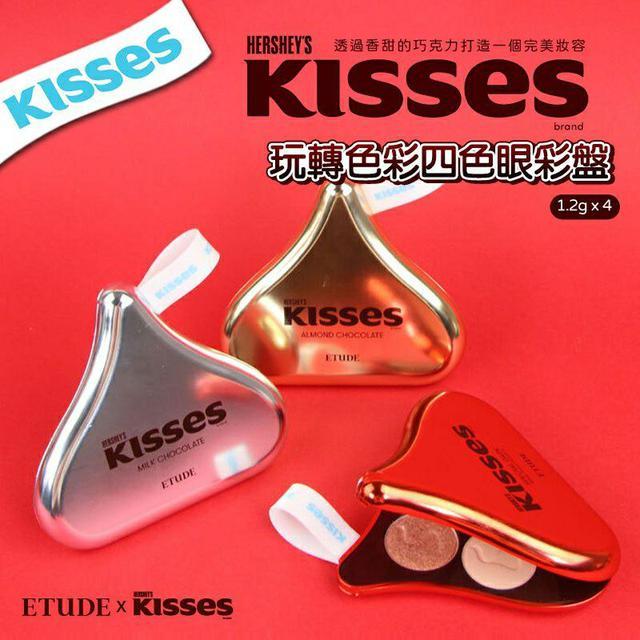 韓國 ETUDE KISSES 玩轉色彩四色眼彩盤 1.2g x 4