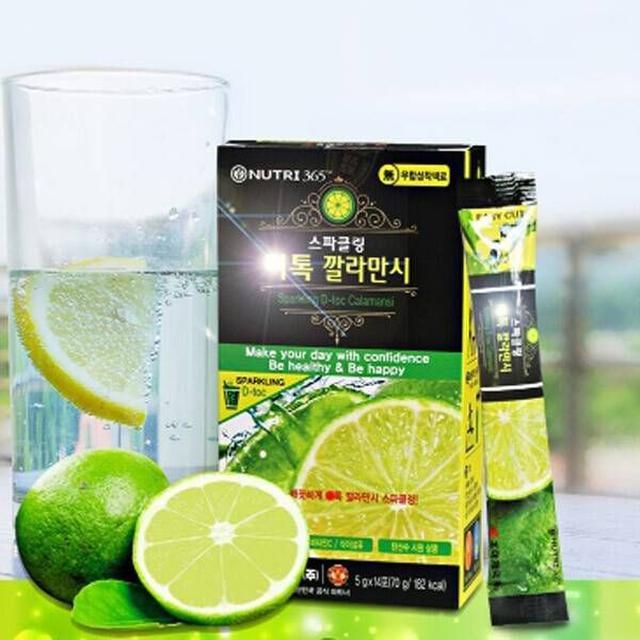 韓國 Nutri 365青檸檬濃縮粉 青檸檬氣泡飲 盒裝14入