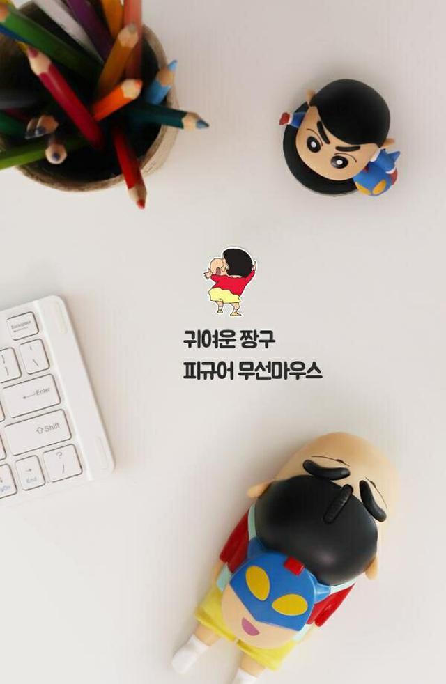 韓國 蠟筆小新 USB無線滑鼠 1入