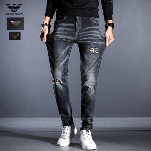 阿瑪尼 時尚潮品 高級定制 2020高端牛仔褲新品