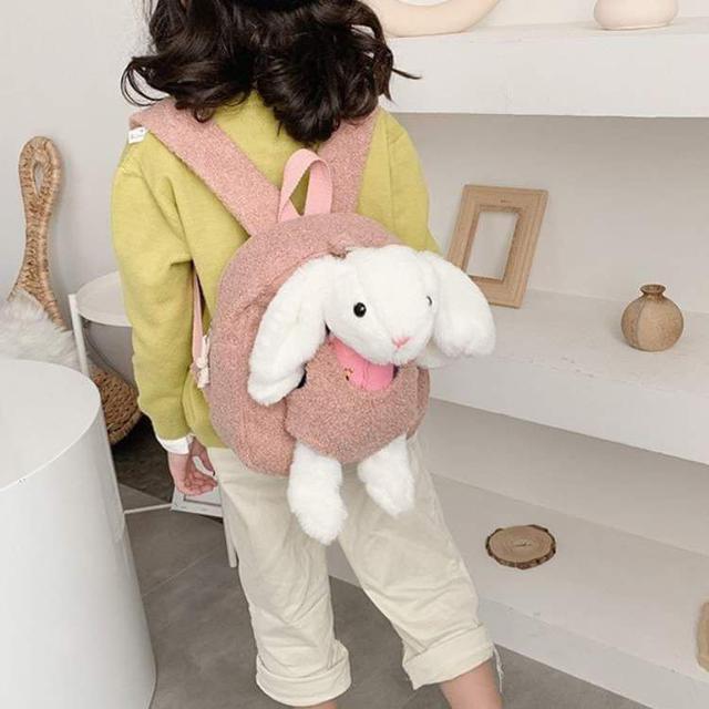 【預購】兒童絨毛兔子後揹包