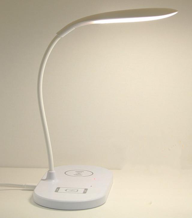 無線充電檯燈 LED護眼檯燈 觸控式 小夜燈 USB插孔