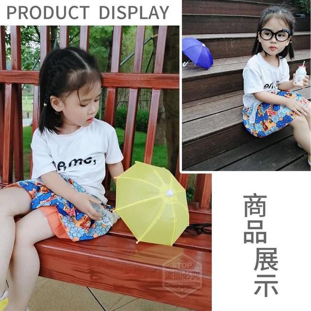 【預購】機車手機架遮陽小雨傘