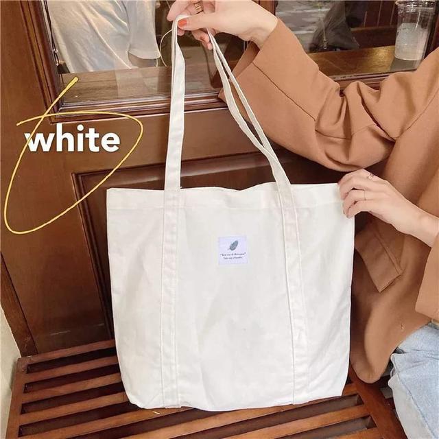 (預購s+) B034-文藝簡約純色單肩帆布包