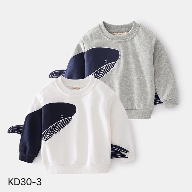 KD30-3 韓版時尚鯊魚造型休閒上衣