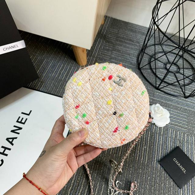 Chanel 19春夏新款圆饼包 香奈儿高端1:1品質