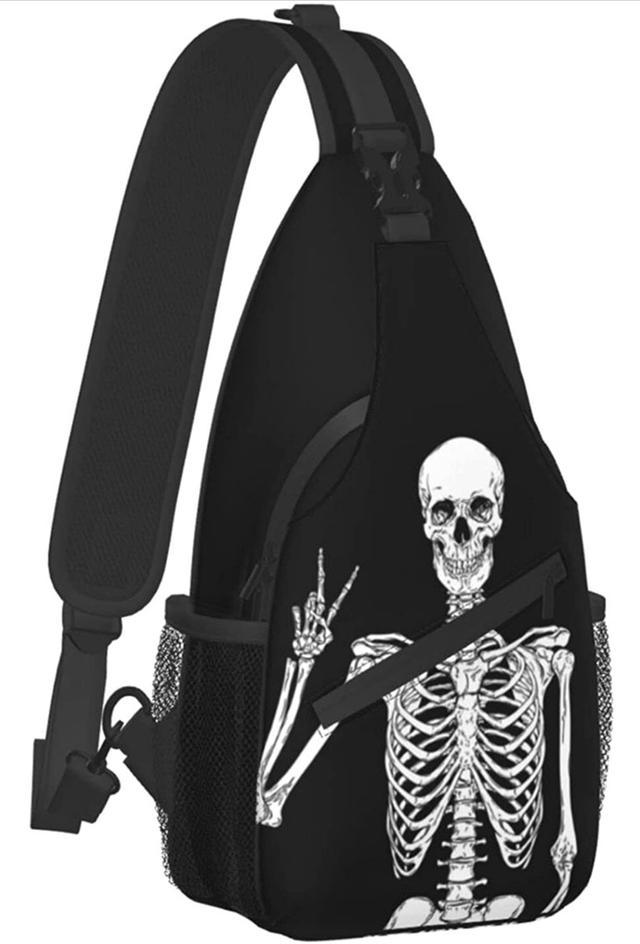 預購/美國熱款有趣的頭骨斜肩包 旅行 背包