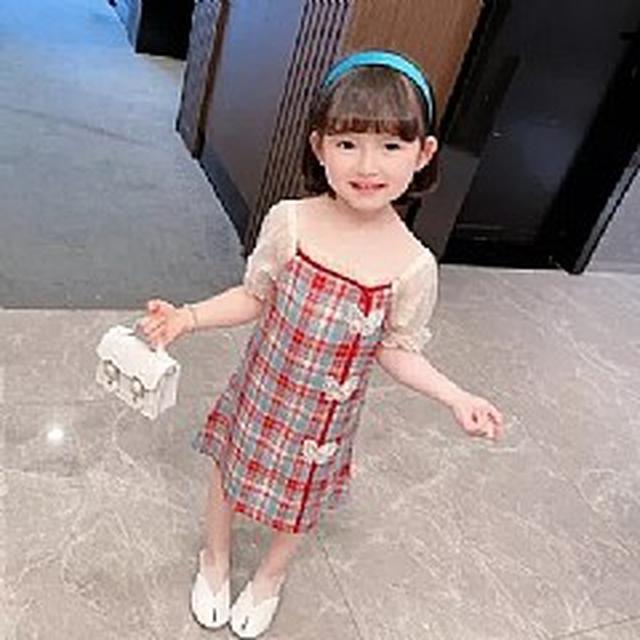 優質小童裝 格子旗袍連衣裙