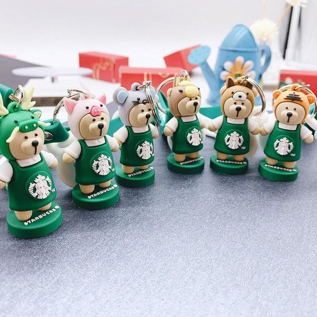 小熊巴克十二生肖鑰匙扣10入一組