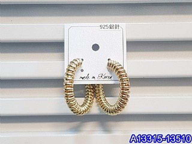 正韓S925純銀 個性電話線螺旋金屬耳環   耳針 韓式
