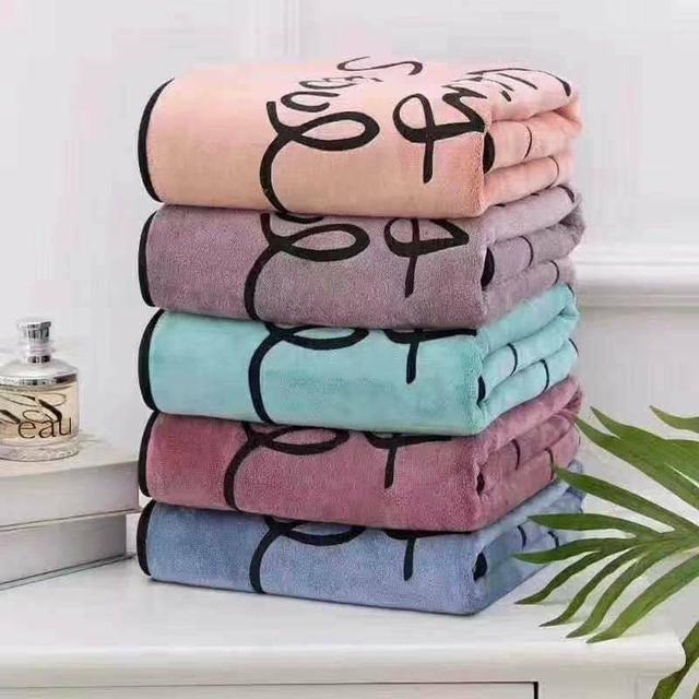 高密度珊瑚絨超吸水包邊浴巾