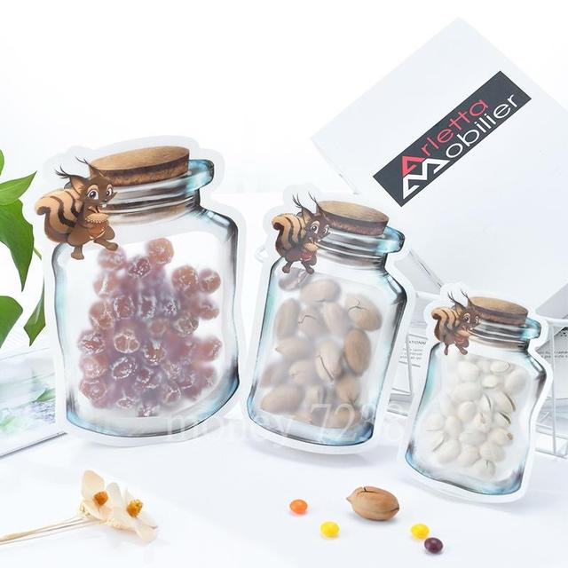 造型密封保鮮袋 果醬杯造型食品密封袋 夾鏈袋 零食保存袋 收納袋