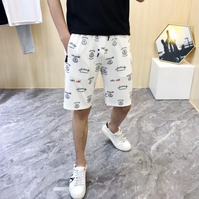 【精品短褲】2021新款Moncler 蒙口 純棉短褲  鬆緊休閒短褲 五分褲