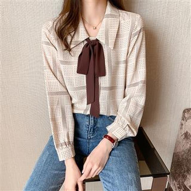 F50517 大碼裝時尚洋氣波點襯衫(單色)