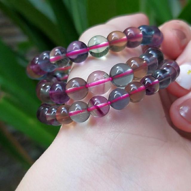天然水晶 清透漸層🌈彩螢石