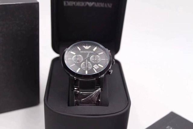 品牌阿瑪尼Armani 型號:AR2458白麵AR2448藍面 AR2434黑面 進口石英機芯手錶類