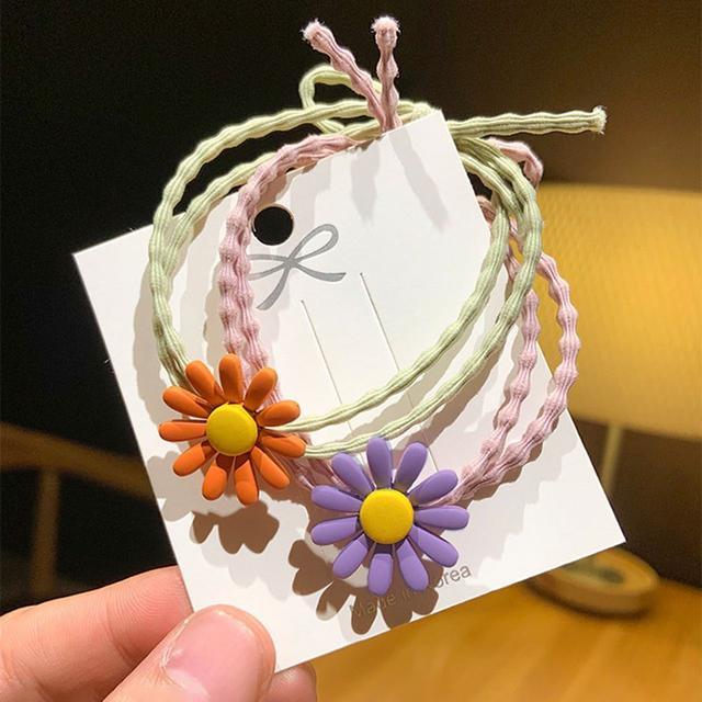 預購/韓國網紅發繩小雛菊花朵髮圈雞蛋花頭飾可愛髮繩(滿199出貨(S)