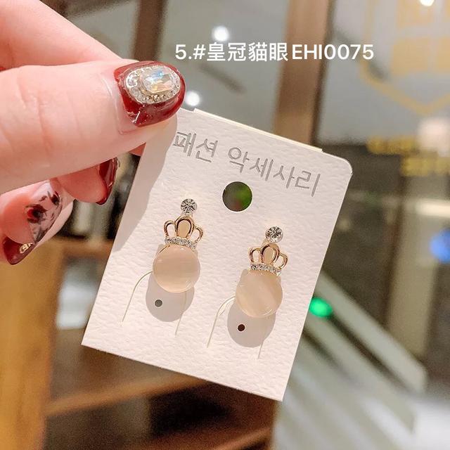 (1~6款)925純銀小耳釘冷淡風個性氣質簡約ins網紅韓國東大門耳飾耳環