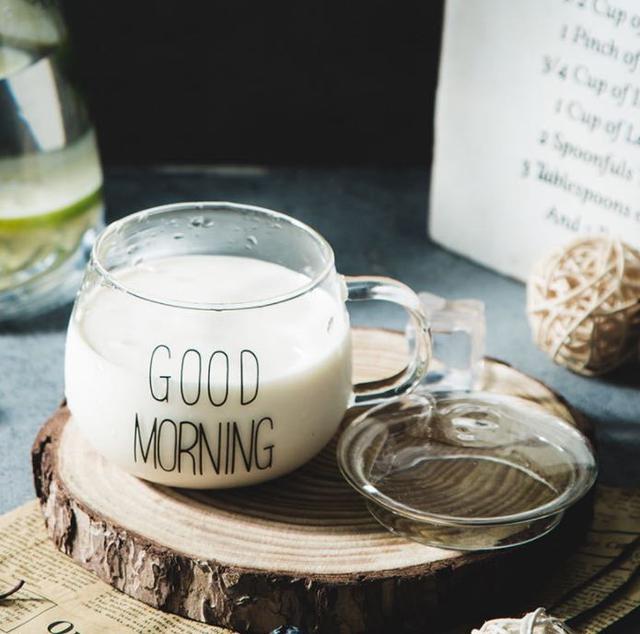 玻璃早安水杯