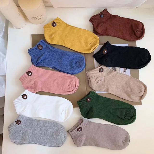 熊大刺繡襪10雙/組