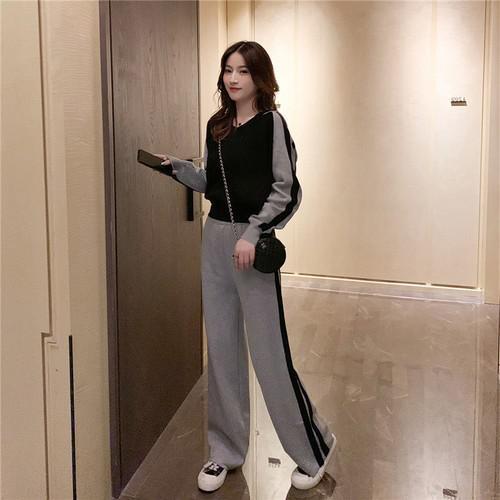 11 流行款 S-L 韓版 連帽衛衣+闊腿褲 運動套裝(2色)