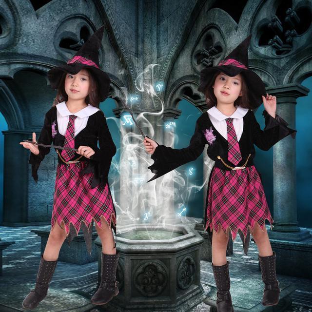 預購女童魔法師巫師哈利波特表演服 魔法學院制服