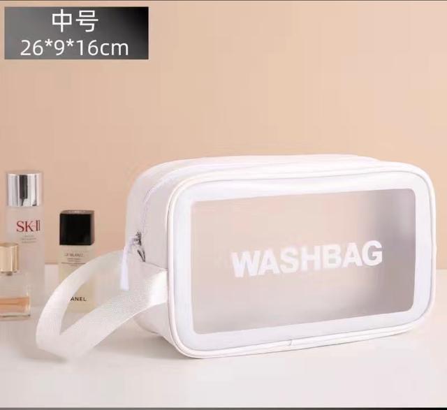 中號網紅化妝包ins風超火大容量便攜女旅行透明防水洗漱包收納袋手提