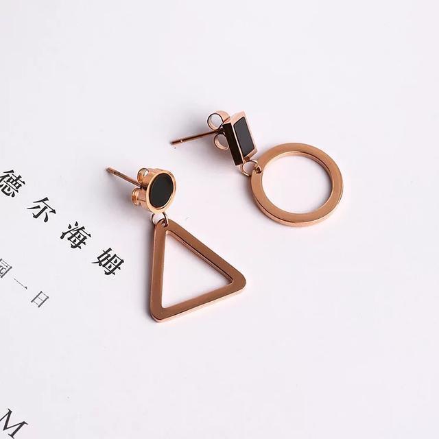 韓版簡約幾何圖耳環