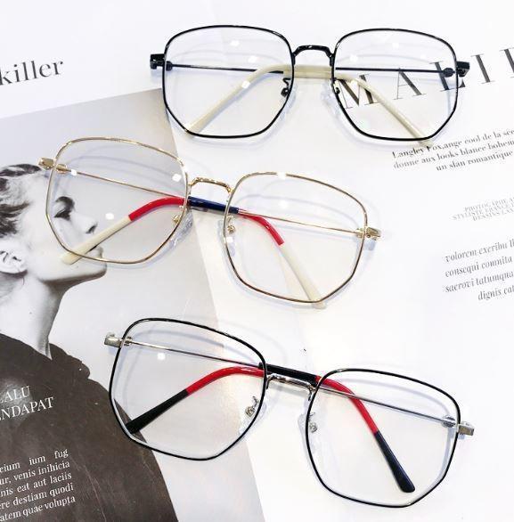 廠商剩1(預購e) GU倪妮同款 復古金屬感抗藍光眼鏡