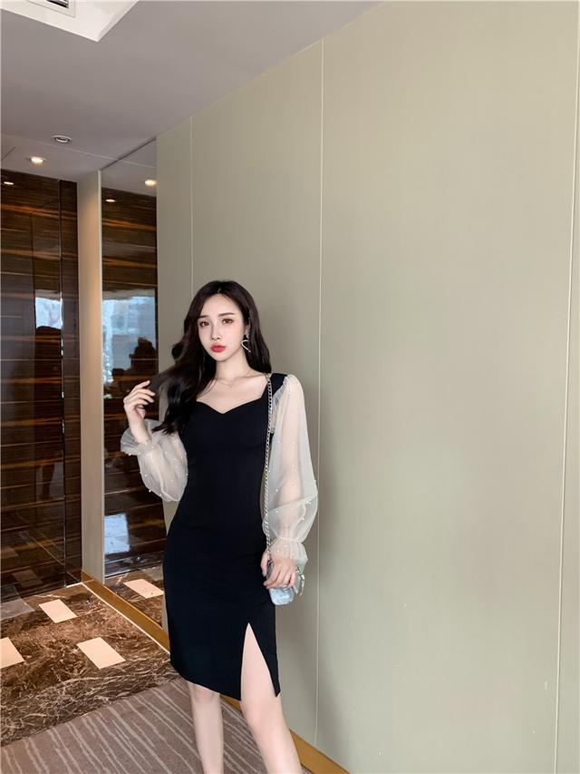 11 S-XL 秋冬智薰裙法式桔梗裙